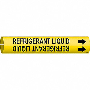Pipe Mkr,Refrigerant Liquid,1-1/2to2-3/8