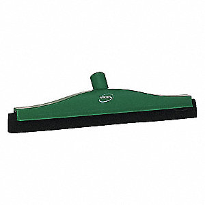 "16"" Ultra Hygiene Rubber, Straight Double Fixed Head Squeegee, 1 EA"