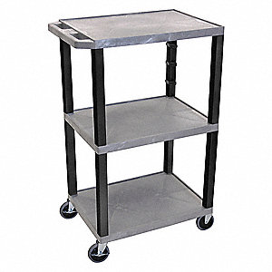 Utility Cart,300 lb. Load Cap.,Resin