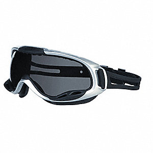 Anti-Fog, Scratch-Resistant Protective Goggles, Gray Lens Color