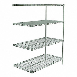add on wire shelving unit 48w x 24d x 63 - Wire Shelving Units