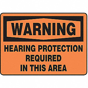 "Personal Protection, Warning, Vinyl, 7"" x 10"", Adhesive Surface, Not Retroreflective"