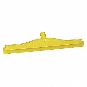 "20"" Rubber, Straight Double Double Blade Squeegee Head, 1 EA"