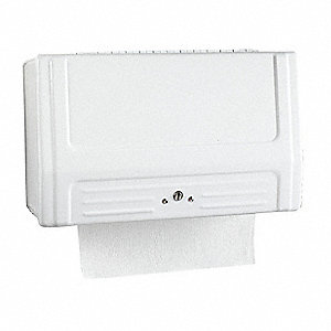 12-13/16 x 7-1/2 Paper Towel Dispenser, White