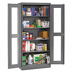 "Commercial Storage Cabinet, Medium Gray, 78"" H X 36"" W X 24"" D, Unassembled"