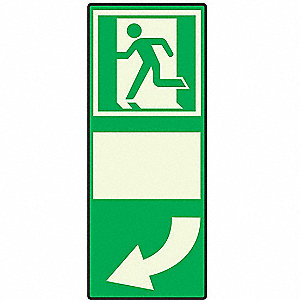 "Pictogram Door Handle Sign Left,10"" x 4"""