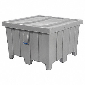 Container,23 cu.-ft.,1200 lbs.,Gray