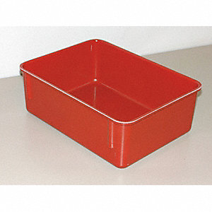 "Nesting Container, Red, 4-1/8""H x 11-3/4""L x 8-3/4""W, 1EA"
