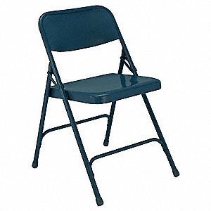 Folding Chair,Blue,18-1/4 In.,PK4
