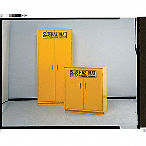 "Storage Cabinet, Yellow, 42"" Overall Height"