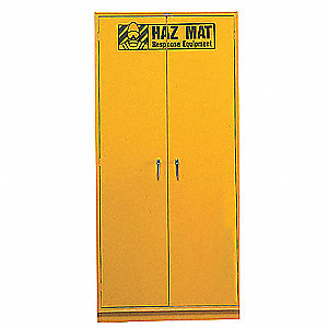 "Storage Cabinet, Yellow, 78"" Overall Height"