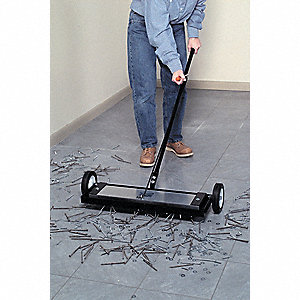 Magnetic Sweeper w/Release,160 lb,30-1/4