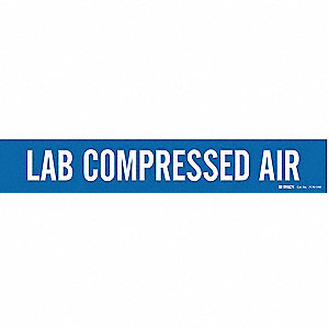Pipe Mrkr,Lab Compressed Air,8 In orGrtr