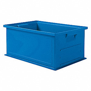 Solid Wall Stacking Cntner,19x13x8,Blue