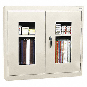 "Putty Wall Mount Storage Cabinet, 26"" Overall Height, 30"" Overall Width, Number of Shelves 1"