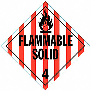Vehicle Placard,Flam Solid w Picto,PK10