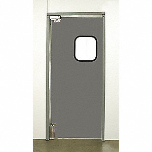 ABS Swinging Door, Gray; Number of Doors: 1, 4 ft.W x 7 ft.H