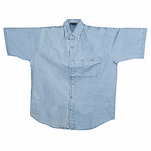 Short Sleeve Shirt,Denim,M