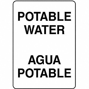 Spanish-Bilingual Potable Water Sign