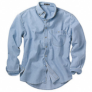 Long Sleeve Shirt,Denim,L