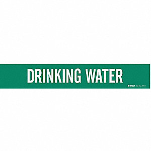 Pipe Mrkr,Drinking Water,2-1/2to7-7/8 In