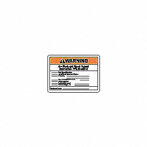 Machine/Equipment Label,Instruction,PK5