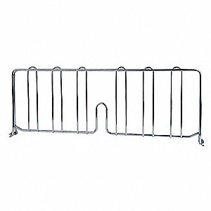 "24"" x 8"" Steel Shelf Divider, Silver&#x3b; PK1"