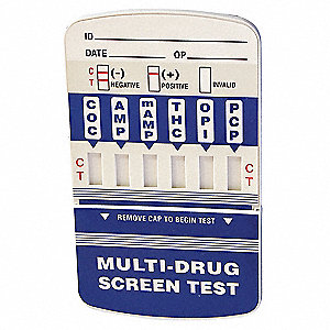 6-Panel Drug Test Card, Detects Drugs and Metabolites; PK25