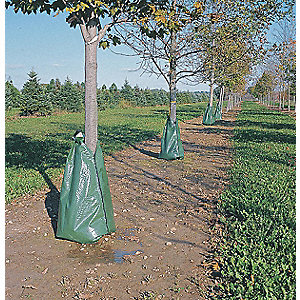 "Tree Watering Bag, 5 to 9 hr. Drain Time, 4"" Max. Tree Dia., 20 gal.. Size"