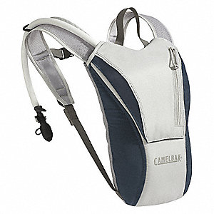 "Gray/Blue Hydration Pack, 70 oz./2.07L Capacity, Depth 1"", Length 17-1/2"", Width 8-3/4"""