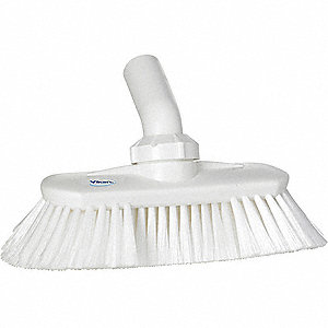 "9-1/4""L Polyester Replacement Brush Head Scrub Brush, White"