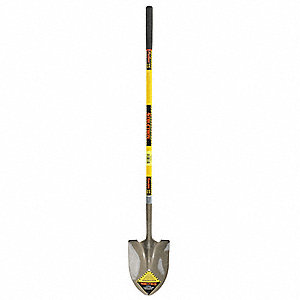 Shovel,Round Point,Fiberglass,48 In