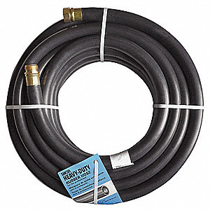 "50 ft. x 1"" dia. Water Hose, 600 psi, Black"