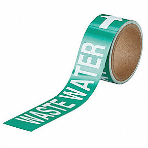 "Pipe Marker,1""H,8""W,PK25"