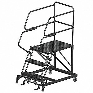 "Rolling Work Platform, Steel, Single Access Platform Style, 30"" Platform Height"