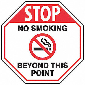 No Smoking Sign,24 x 24In,R and BK/WHT