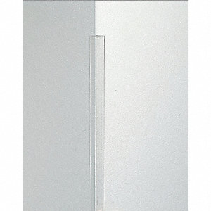Corner Guard,2-1/2 x 48 In,Clear,Smooth