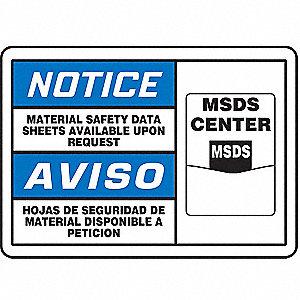 NOTC LBL MSDS CTR ENG/SP 3 1/2X5