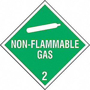 "10-4/5"" x 10-4/5"" Class 2 Rigid Styrene Vehicle Placard, White/Green"