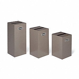 28-1/2 gal. Brown Stationary Recycling Container, Hinged Top