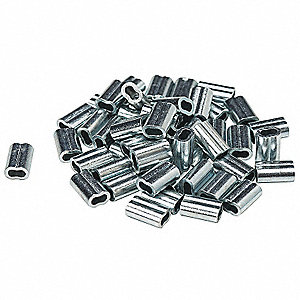 Valve Tag Crimp, Aluminum, 100 PK