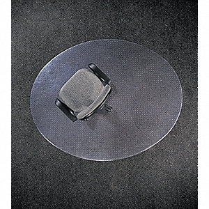 Ellipse with Lip Designer Chair Mat, Clear, For Laminate, Wood, Tile, Concrete and other Hard Surfac