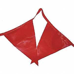 Pennants,Polyethylene,Red,100 ft.