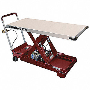 Stationary Electric Lift Scissor Lift Table, 1100 lb. Load Capacity, Lifting Height Max. 36-1/2""