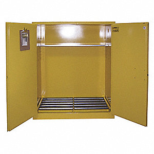 "(2) 55 gal. Hazardous Waste and Drum Storage Cabinet, 65"" x 56"" x 31"", Manual Door Type"