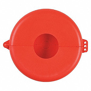 Valve Lockout,Fits Sz 6-1/2 to 10,Red