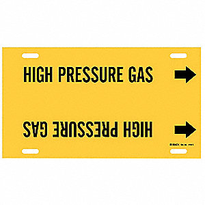 Pipe Markr, High Pressure Gas, Y, 10to15 In
