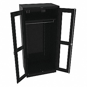 "Storage Cabinet, Black, 78"" Overall Height, Assembled"