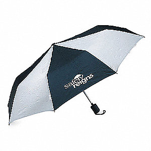 "Blue/White (Stripes) Umbrella, Open Dia. 36"", Closed Length 15-1/2"""
