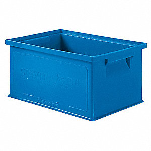Solid Wall Stacking Cntner,13x9x6,Blue